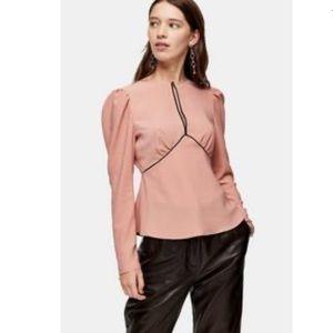 TopShop Austin Plain Pink Blouse